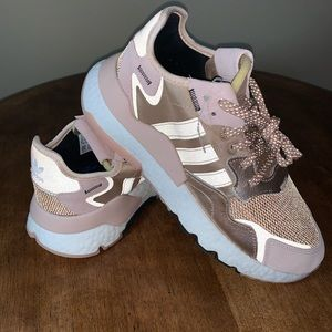 SIZE 8.5 ADIDAS ROSE GOLD SNEAKERS ladies